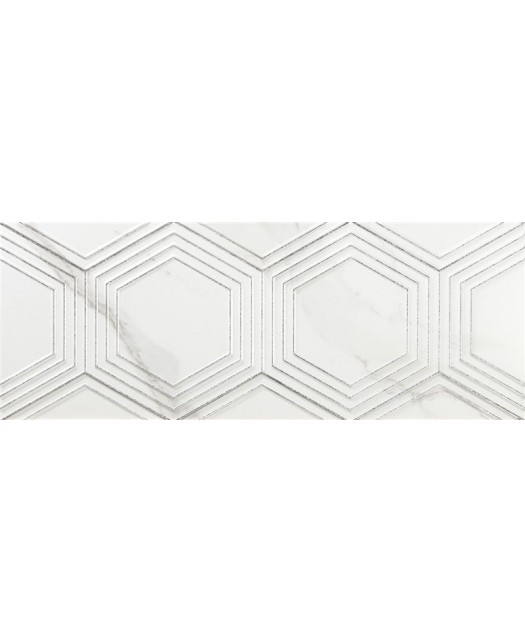 Декор Decor Hexa White Matt (Azulev) Испания 24,5x64,5 толщина 6 мм