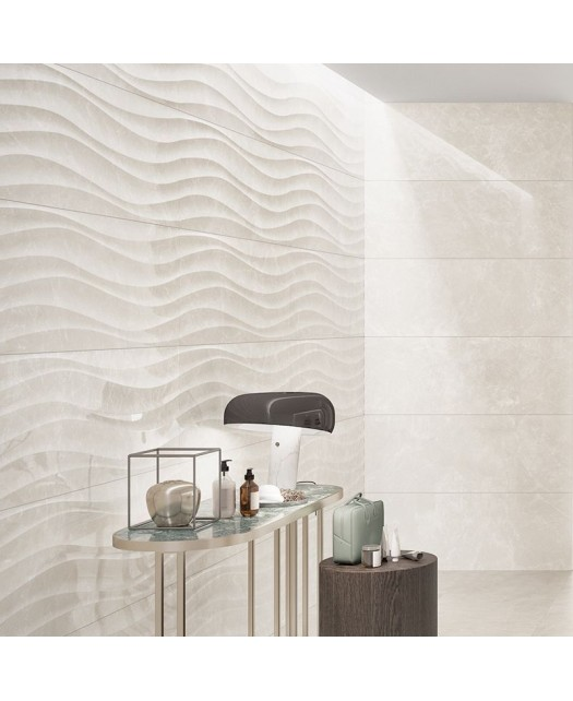 Керамическая плитка MARBLE CURL LIGHT GREY SHINE (LOVE TILES) Португалия 35х70