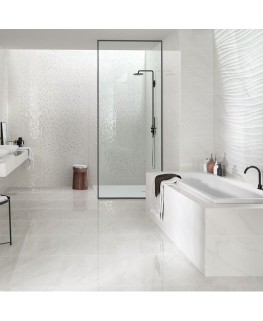 Керамическая плитка MARBLE BLISS LIGHT GREY SHINE (LOVE TILES) Португалия 35х70